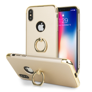 Custom made for the iPhone X, this gold and silver X-Ring case from Olixar provides excellent protection and a handy finger loop to keep your phone in your hand, whether from accidental drops or attempted theft.