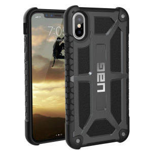 Med 5 lag - premium beskyttelse og de fineste materialene, så er iPhone X trygt, sikkert og i stil. Dekslet Urban Armour Gear til iPhone X har en beskyttende TPU-deksel med en børstet metall-logo for en fantastisk design.