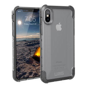 The Urban Armour Gear Plyo semi-transparent tough case in ice for the iPhone X features reinforced Air-Soft corners and an optimised honeycomb structure for superior drop and shock protection.
