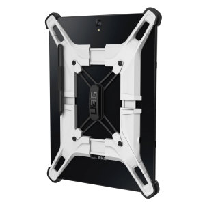 The Exoskeleton case from UAG consists of impact-resistant bumpers combined with an adjustable frame to ensure compatibility with a range of tablets between 9 and 10 inches. These include the Samsung Galaxy Tab S3, S2, Tab A, Acer Iconia One 10 and more.