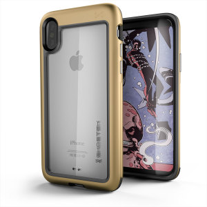 Equip your iPhone X with the most extreme and durable protection around. The gold Ghostek Atomic provides rugged drop and scratch protection whilst keeping the phone slim.