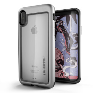 Equip your iPhone X with the most extreme and durable protection around. The silver Ghostek Atomic provides rugged drop and scratch protection whilst keeping the phone slim.