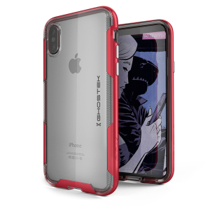 The Cloak 3 Protective case in red and clear from Ghostek provides your iPhone X with fantastic all round protection without hiding any of its beauty and style.