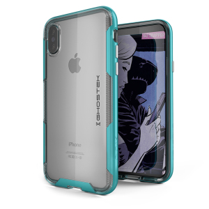 The Cloak 3 Protective case in teal and clear from Ghostek provides your iPhone X with fantastic all round protection without hiding any of its beauty and style.