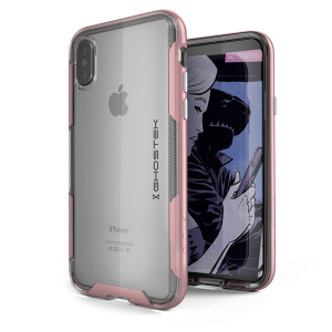 The Cloak 3 Protective case in pink and clear from Ghostek provides your iPhone X with fantastic all round protection without hiding any of its beauty and style.