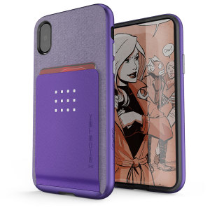 De Exec premium case biedt uw iPhone X een fantastische bescherming. Ook voorzien van opslagplaatsen voor uw creditcards, ID en contant geld.