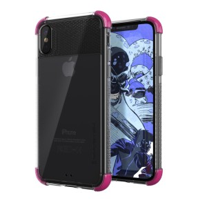 The Covert 2 protective bumper case in pink and clear from Ghostek provides your iPhone X with fantastic protection, whilst highlighting its superb design. Reinforced corners and provide extra drop protection for such a slim case.