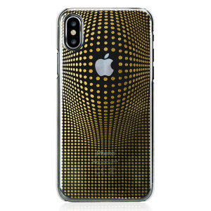 The Warp case in gold for iPhone X from Bling My Thing features a mesmerising 3D pattern, inset with individual-set crystals and finished with an anti-scratch coating to protect both your device and the case itself.