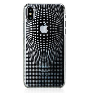 The Warp case in silver for iPhone X from Bling My Thing features a mesmerising 3D pattern, inset with individual-set crystals and finished with an anti-scratch coating to protect both your device and the case itself.