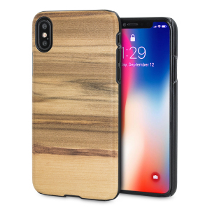 Presenting the Cappuccino design. A beautiful genuine wood case for your iPhone X. Selected premium woods from sustainable sources are crafted into a form-fitting case for your phone that is as stunning as it is protective.