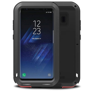 Protect your Samsung Galaxy Note 8 with one of the toughest and most protective cases on the market, ideal for helping to prevent possible damage from water and dust - this is the black Love Mei Powerful Protective Case.