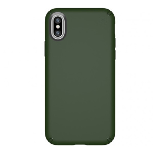 Meet the Speck Presidio - the evolution of the popular CandyShell case. An ultra-rugged dusty green case made from two different protective layers for the iPhone X from Speck. Features enhanced drop protection, superior matte finish and reduced bulk.