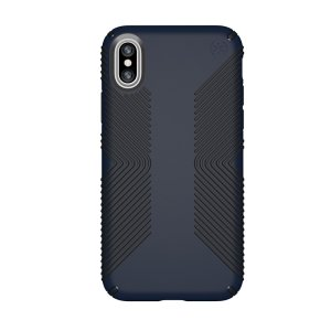 Meet the Speck Presidio Grip - the evolution of the popular CandyShell Grip case. An ultra-rugged blue and black case made from two different protective layers for the iPhone X from Speck. Features enhanced drop protection, superior matte finish.