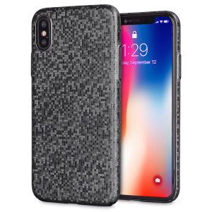 Enhance and protect your iPhone X with this glamorous black case from LoveCases. Your iPhone fits perfectly into the secure, durable frame, while a shimmering chequered mosaic adorns the back, adding a touch of class to your already-gorgeous device.