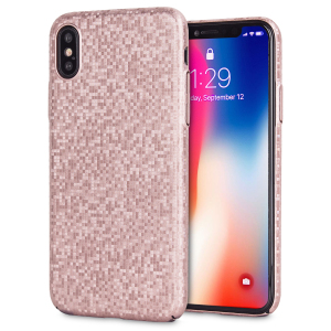 Enhance and protect your iPhone X with this glamorous rose gold case from LoveCases. Your iPhone fits perfectly into the secure, durable frame, while a shimmering chequered mosaic adorns the back, adding a touch of class to your already-gorgeous device.