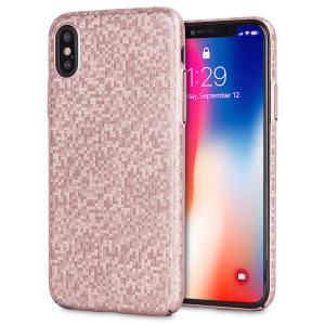 Verbessern Sie Ihr iPhone X mit diesem glamourösen Roségoldgehäuse von LoveCases. Ihr iPhone passt perfekt in den sicheren, haltbaren Rahmen, während ein schimmerndes Mosaik den Rücken schmückt und Ihrem bereits prächtigen Gerät einen Hauch von Klasse verleiht.