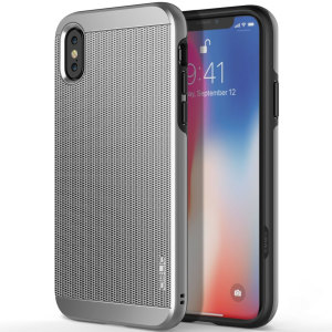 Protect your iPhone X with this ultra slim case in silver, which protects as well as providing a stunning full body protection in an attractive dual design.