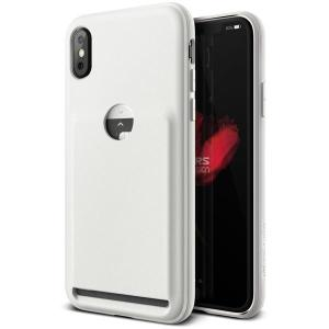 Protect your iPhone X with this lightweight case in light pebble from VRS Design. Made with robust flexible material, this slim case features a pouch to store credit cards or ID.