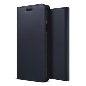 Protect your iPhone X with this precisely designed flip case in navy from VRS Design. Made with genuine premium leather, the VRS Design Diary oozes style and attractiveness.