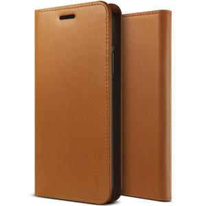 Protect your iPhone X with this precisely designed flip case in brown from VRS Design. Made with genuine premium leather, the VRS Design Diary oozes style and attractiveness.