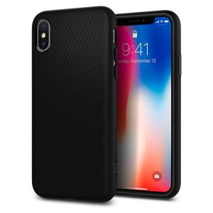 The Spigen Liquid Air in matte black is a TPU lightweight protective case. Spigen's flexible and elastic material reduces the thickness of the case while providing shock absorption and a comfortable grip for your iPhone X.
