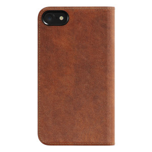 Protect your iPhone 8 / 7 with this precisely designed genuine leather flip case in rustic brown from Nomad. Made with genuine premium leather, the Nomad Leather Folio is designed to replace your current wallet so you can carry one less object.