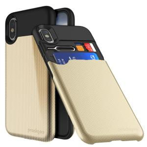 Sporting an all-new and improved design, the UnderCover case in gold for iPhone X is a slim, textured cover with a built-in card slot able to accommodate up to 2 cards. A dual-layered construction also provides excellent protection for your phone.