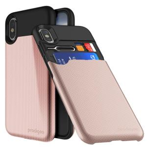 Sporting an all-new and improved design, the UnderCover case in rose gold for iPhone X is a slim, textured cover with a built-in card slot able to accommodate up to 2 cards. A dual-layered construction also provides excellent protection for your phone.