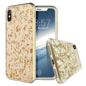 Add a touch of bling to your iPhone X, whilst keeping it well protected with the gold Scene Treasure Case from Prodigee. Slim, light and incredibly attractive, this case really does have it all and is screen protector friendly.