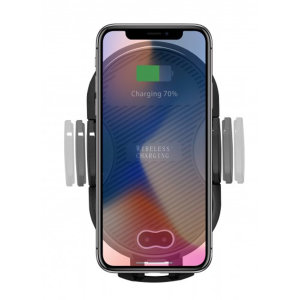 Wirelessly charge your Qi-enabled smartphone in-car with this wireless charging vent-mounted car holder. Securely position your device in either portrait or landscape all while enjoying convenient and efficient Qi wireless charging.