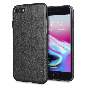Enhance and protect your iPhone 8 / 7 with this glamorous black case from LoveCases. Your iPhone fits perfectly into the secure, durable frame, while a shimmering chequered mosaic adorns the back, adding a touch of class to your already-gorgeous device.