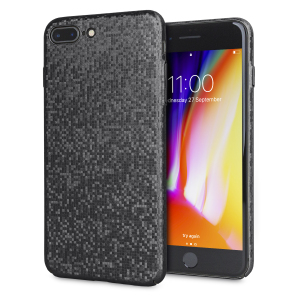 Enhance your iPhone 8 Plus / 7 Plus with this glamorous black case from LoveCases. Your iPhone fits perfectly into the secure, durable frame, while a shimmering chequered mosaic adorns the back, adding a touch of class to your already-gorgeous device.