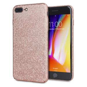Enhance your iPhone 8 Plus / 7 Plus with this glamorous rose gold case from LoveCases. Your iPhone fits perfectly into the secure, durable frame, while a shimmering chequered mosaic adorns the back, adding a touch of class to your already-gorgeous device.