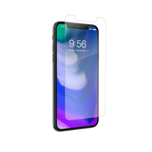 This contoured glass screen protector from InvisibleShield for iPhone X covers and protects your device's display, while also sporting an ergonomic design engineered to be compatible with a wide range of cases.