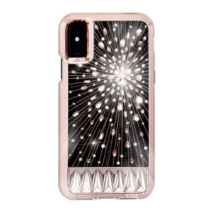 At the touch of a button, transform your iPhone X into a glittering, shimmering lightshow of crystalline brilliance with the Luminescent case from Case-Mate. Not just eye candy, this case with genuine embedded crystals also offers hard-wearing protection.