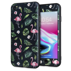 Enhance and protect your iPhone 7 with a taste of paradise with this stunning case from LoveCases. A durable frame offers a perfect fit, whilst Flamingo Fall design adds a touch of on-trend beauty to your iPhone. Comes with a free screen protector.