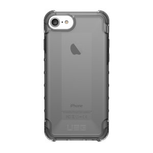 MASTER BUNDLE SKU - NOT LIVE. The Urban Armour Gear Plyo semi-transparent tough case in ash grey for the iPhone 8/7/6S/6 features reinforced Air-Soft corners and an optimised honeycomb structure for superior drop and shock protection.