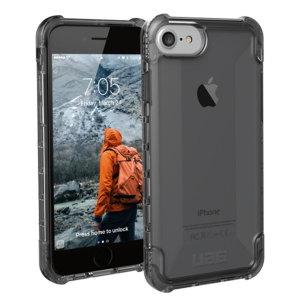 The Urban Armour Gear Plyo semi-transparent tough case in ash grey for the iPhone 8 / 7 features reinforced Air-Soft corners and an optimised honeycomb structure for superior drop and shock protection.