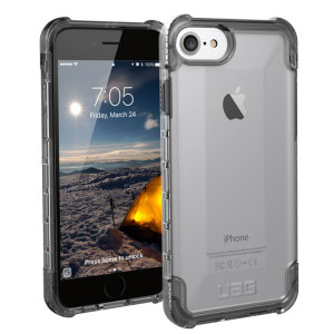 The Urban Armour Gear Plyo semi-transparent tough case in ice clear for the iPhone 8 / 7 features reinforced Air-Soft corners and an optimised honeycomb structure for superior drop and shock protection.