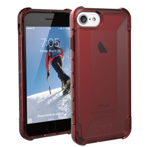 The Urban Armour Gear Plyo semi-transparent tough case in Crimson Red for the iPhone 6S / 6 features reinforced Air-Soft corners and an optimised honeycomb structure for superior drop and shock protection.