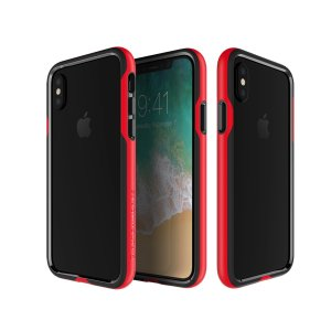 The Patchworks Level Silhouette in red is a hard-wearing, sturdy and attractive bumper case for iPhone X. Three layers of protection and military-grade drop protection shield your phone from everyday drops and bumps.