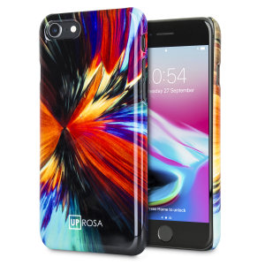 Art under the microscope. This beautiful and unique case from Uprosa features actual scientific microscope imagery that has been stylised to adorn your iPhone 8 / 7 with a truly stunning Vortex design. Lightweight, attractive and protective.