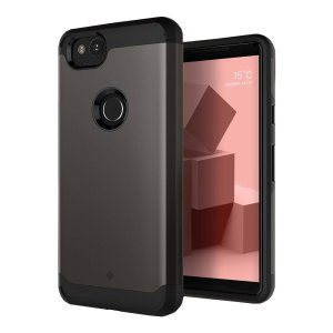 Protect your Google Pixel 2 with this stunning tough dual-layered armoured case in warm gray. Made with robust dual-layered yet slim material, this TPU body with a sleek outer layer features an attractive two-tone finish.