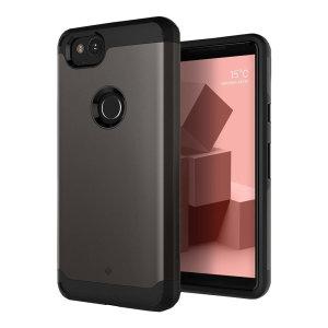 Schützen Sie Ihr Google Pixel 2 mit dieser atemberaubenden, robusten, doppellagigen, gepanzerten Hülle in schwarz. Mit robustem, zweilagigem, aber schlankem Material ist dieser TPU-Körper mit einer glatten Außenschicht mit einem attraktiven zweifarbigen Finish ausgestattet.