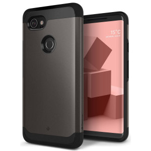 Protect your Google Pixel 2 XL with this stunning tough dual-layered armoured case in warm grey. Made with robust dual-layered yet slim material, this TPU body with a sleek outer layer features an attractive two-tone finish.