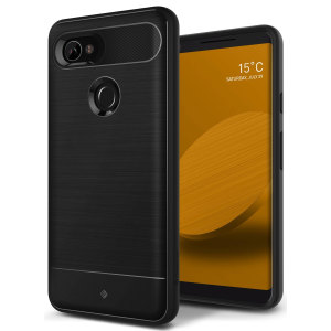 Protect your Google Pixel 2 XL with this stunning rugged dual-layered shell case in matte black. Made with tough dual-layered yet slim material, this TPU body with a sleek metallic outer layer features an attractive two-tone finish.