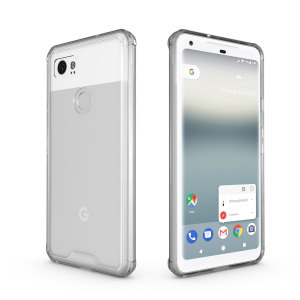 Custom moulded for the Google Pixel 2 XL, this crystal clear Olixar ExoShield tough case provides a slim fitting stylish design and reinforced corner shock protection against damage, keeping your device looking great at all times.
