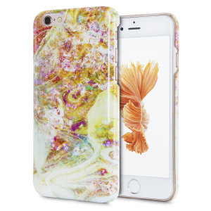 Enhance and protect your iPhone 6S / 6 with this glamorous opal gem yellow case from LoveCases. Your iPhone fits perfectly into the durable frame, while a classical marble-effect design adds a touch of historic prestige to your already-gorgeous device.