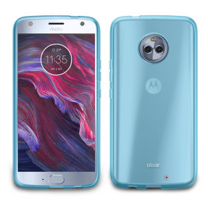 Custom moulded for the Motorola Moto X4, this blue Olixar FlexiShield case provides slim fitting and durable protection against damage.