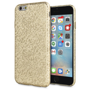 Enhance and protect your iPhone 6S / 6 with this glamorous gold case from LoveCases. Your iPhone fits perfectly into the secure, durable frame, while a shimmering chequered mosaic adorns the back, adding a touch of class to your gorgeous device.